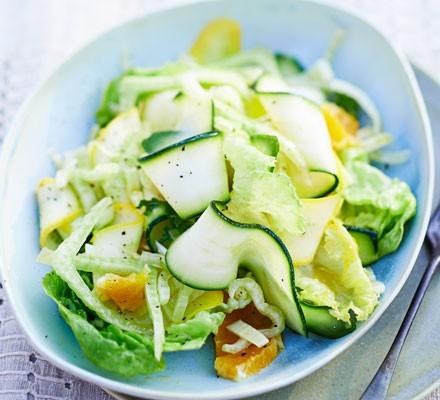 Shaved fennel, courgette & orange salad
