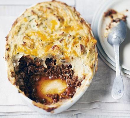 Shepherd's pie with lamb's liver