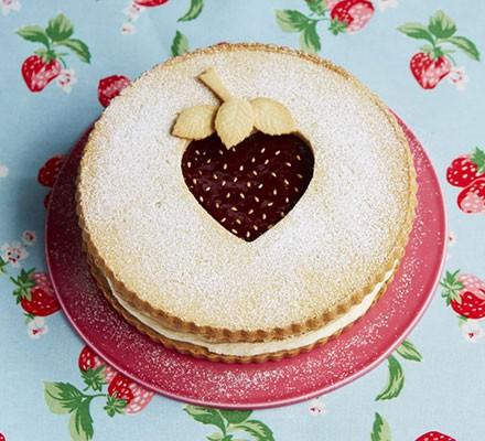 Giant strawberry shortcake