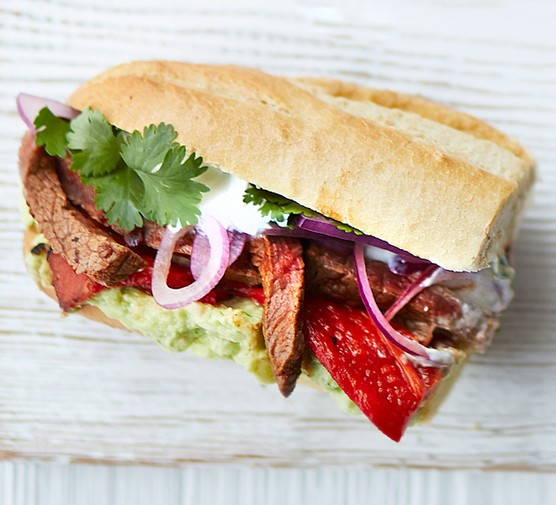 Sizzled chipotle steak sarnies