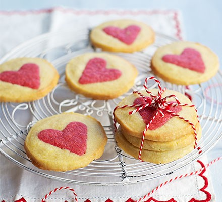 Slice-and-bake Valentine's biscuits