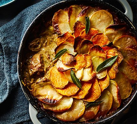 Slow-cooked pork, cider & sage hotpot image