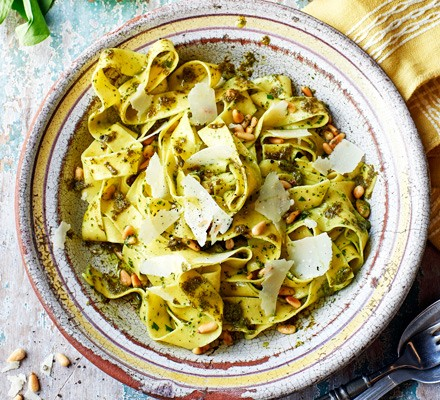 Pappardelle with sorrel butter & pine nuts