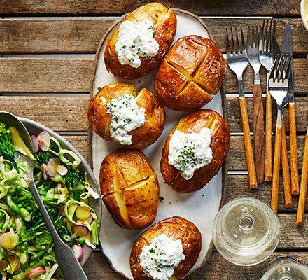 Soured cream & chive jacket potatoes image