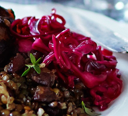 Soused red cabbage