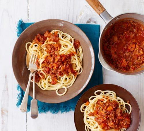 A bowl of spaghetti Bolognese