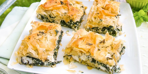 Lighter spanakopita
