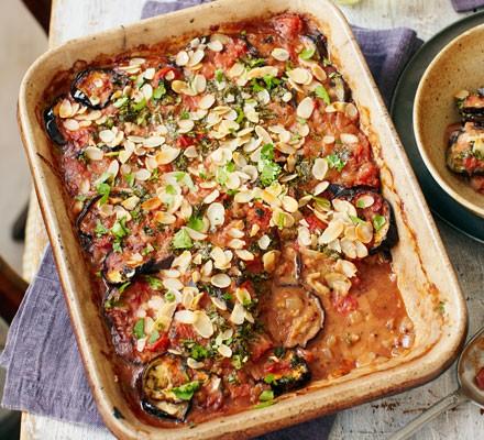 Spiced aubergine bake