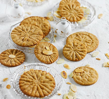 A selection of spiced cookie wheels