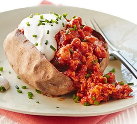 Spicy turkey sweet potatoes
