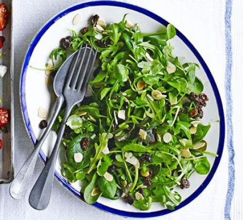 spinach salad in dish