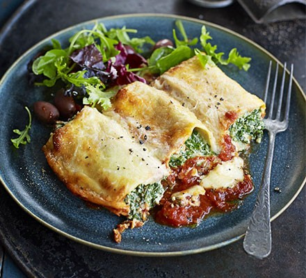 Spinach & nutmeg cannelloni