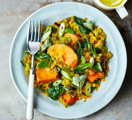 Spinach, sweet potato & lentil dhal_image