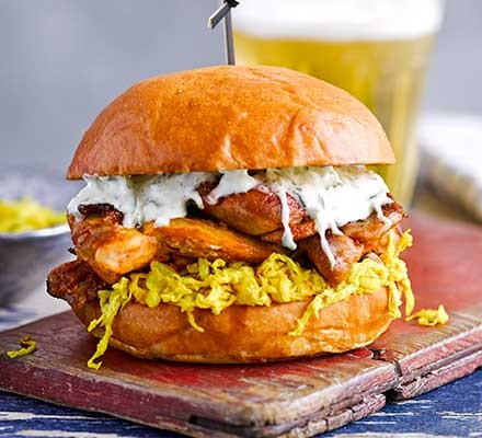 Chicken Burger Recipes Bbc Good Food