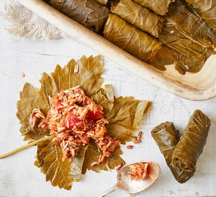 Stuffed Vine Leaves Recipe Bbc Good Food