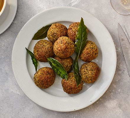 A collection of stuffing balls