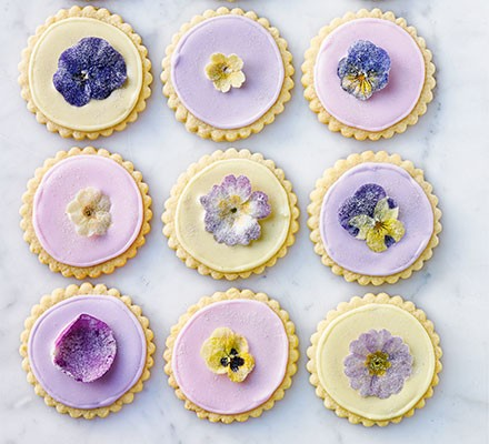 Sugared flower shortbreads