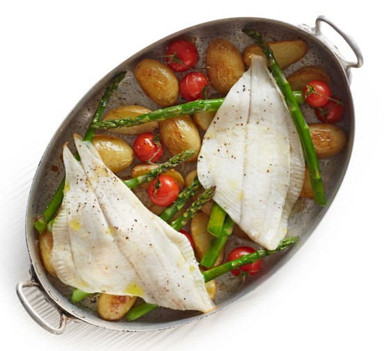 Summer baked plaice