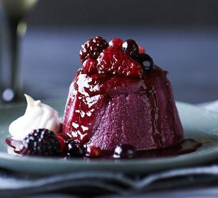 Individual summer puddings