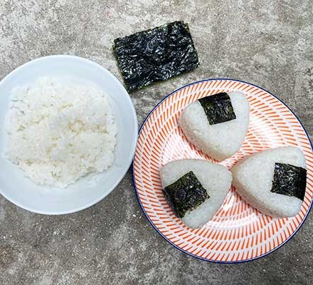 Sushi rice with seaweed