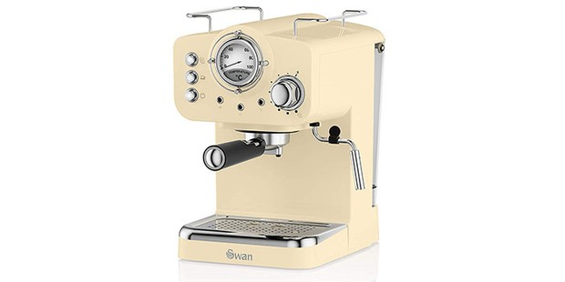 Swan retro espresso machine hero