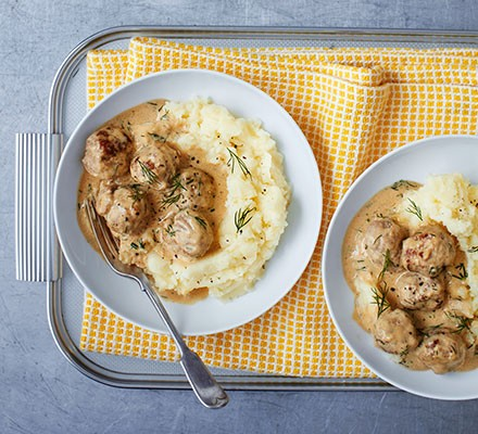Swedish-style sausage meatballs