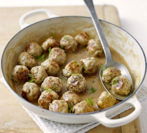 Swedish meatballs in a pan