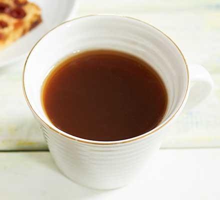 Cinnamon tea served in a teacup