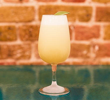 Tequila pina del oro served in a glass