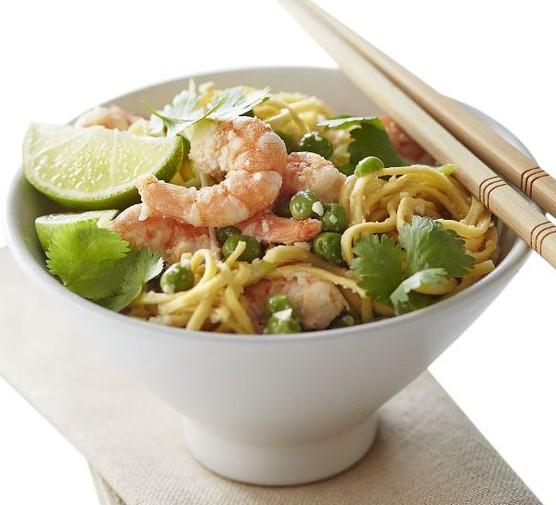 Thai satay prawns
