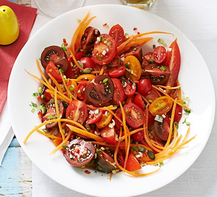 Late-summer tomato & carrot salad