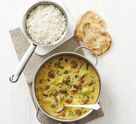 Turkey meatball & pineapple curry