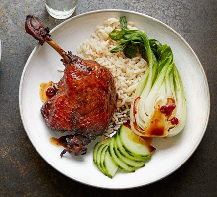 Twice-cooked sticky duck