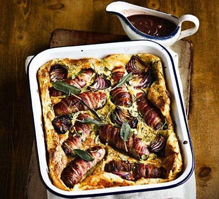 Ultimate toad-in-the-hole with caramelised onion gravy