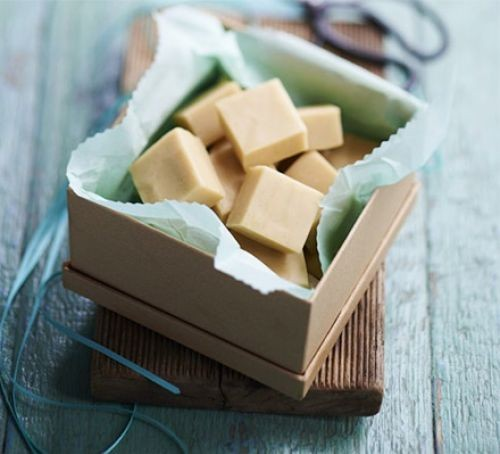 Fudge squares in a gift box