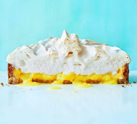 Half a vegan lemon meringue pie
