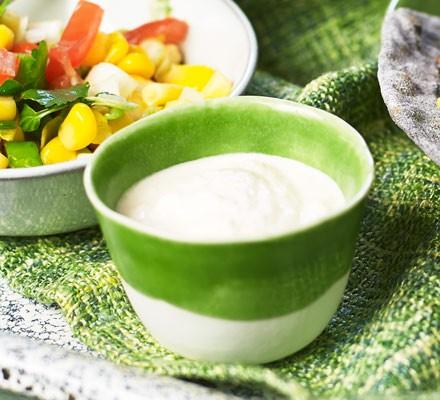 Soured cream in dish