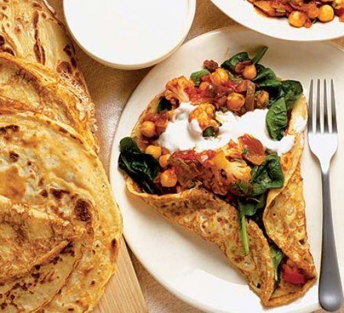 Vegetarian fajitas: Spicy vegetable fajitas
