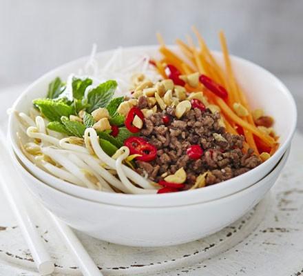 Vietnamese-style beef salad