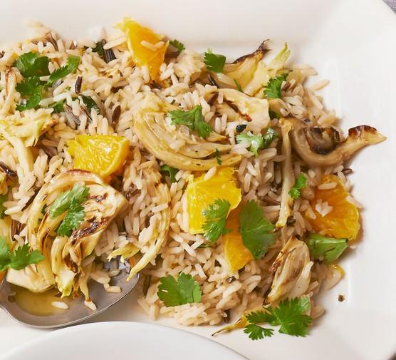 Wild rice with orange & fennel