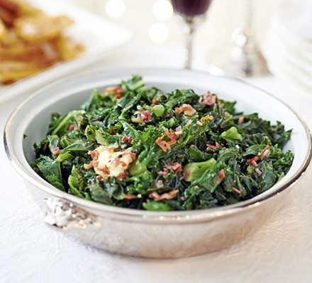 Winter greens with bacon butter