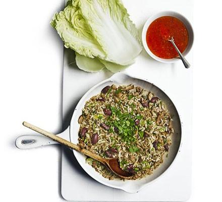 Chinese leaf pork wraps