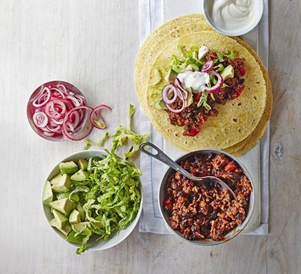 Speedy beef tacos