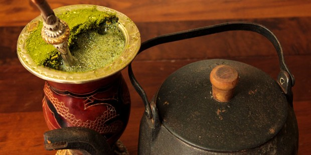 Yerba mate with teapot
