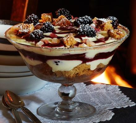 Yorkshire parkin & blackberry trifle