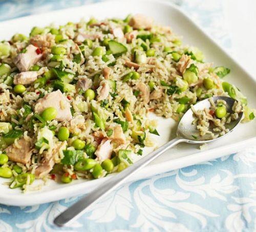 Rice salad recipes: Salmon and brown rice salad