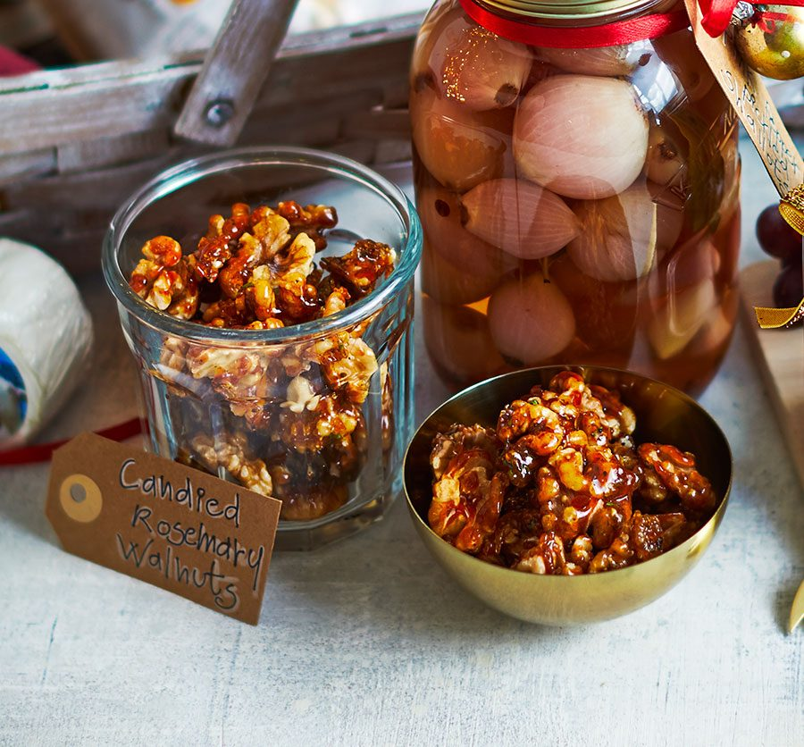 Candied rosemary walnuts