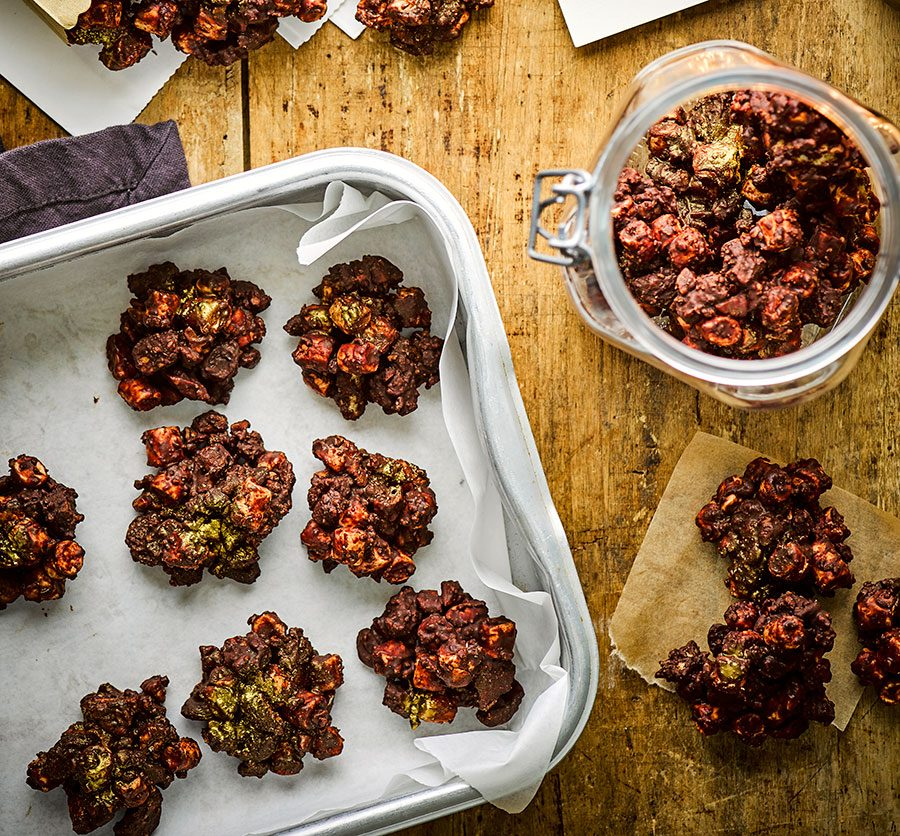 Rocky road clusters