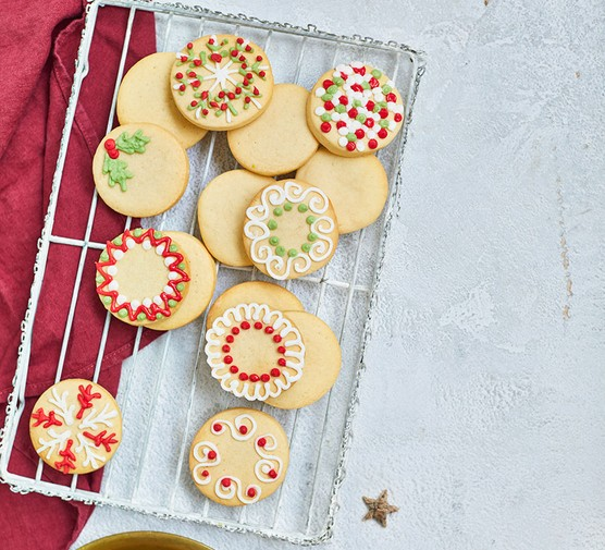 A selection of festive sugar cookies