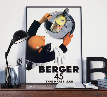 Vintage french wine poster, best wine gifts